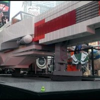 Lego X Wing to promote The Yoda Chronicles in Times Square