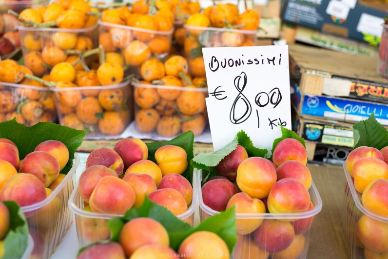 Fresh produce at the open-air market // A day trip to the medieval town of Ventimiglia, Italy from Nice, France // gonewithawhim.com