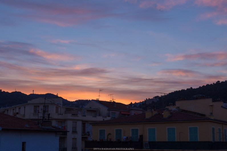 View from Rue Bonaparte // Early morning strolls in the old town of Nice, France // gonewithawhim.com