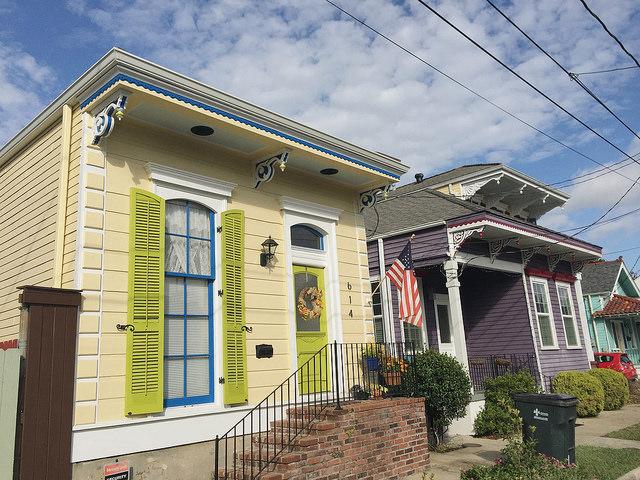 You can't help but pause and admire the adorable shotgun style homes dotting Algiers Point