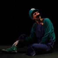 Burlesque performer Persé Fanny as the video game character Luigi (photo courtesy of NOLA Nerdlesque Festival)