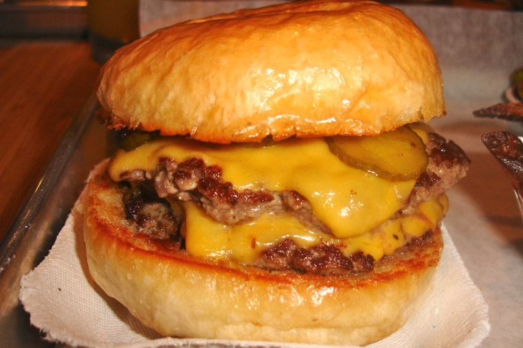 Delicious cheeseburger from Company Burger