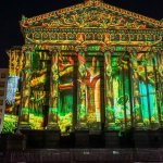 Luna Fete lights up Gallier Hall. (Courtesy photo)
