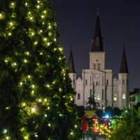 Christmas New Orleans Style is like no other. The St. Louis Cathedral is even more magical during the holidays.