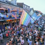 The French Quarter decked out for Pride. Photo: Paul Broussard