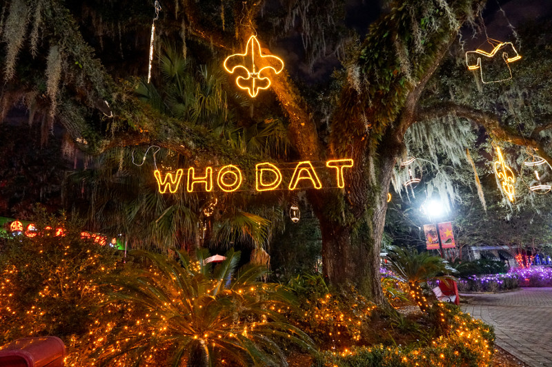 Celebration in the Oaks lights up New Orleans City Park. (Photo: Paul Broussard)
