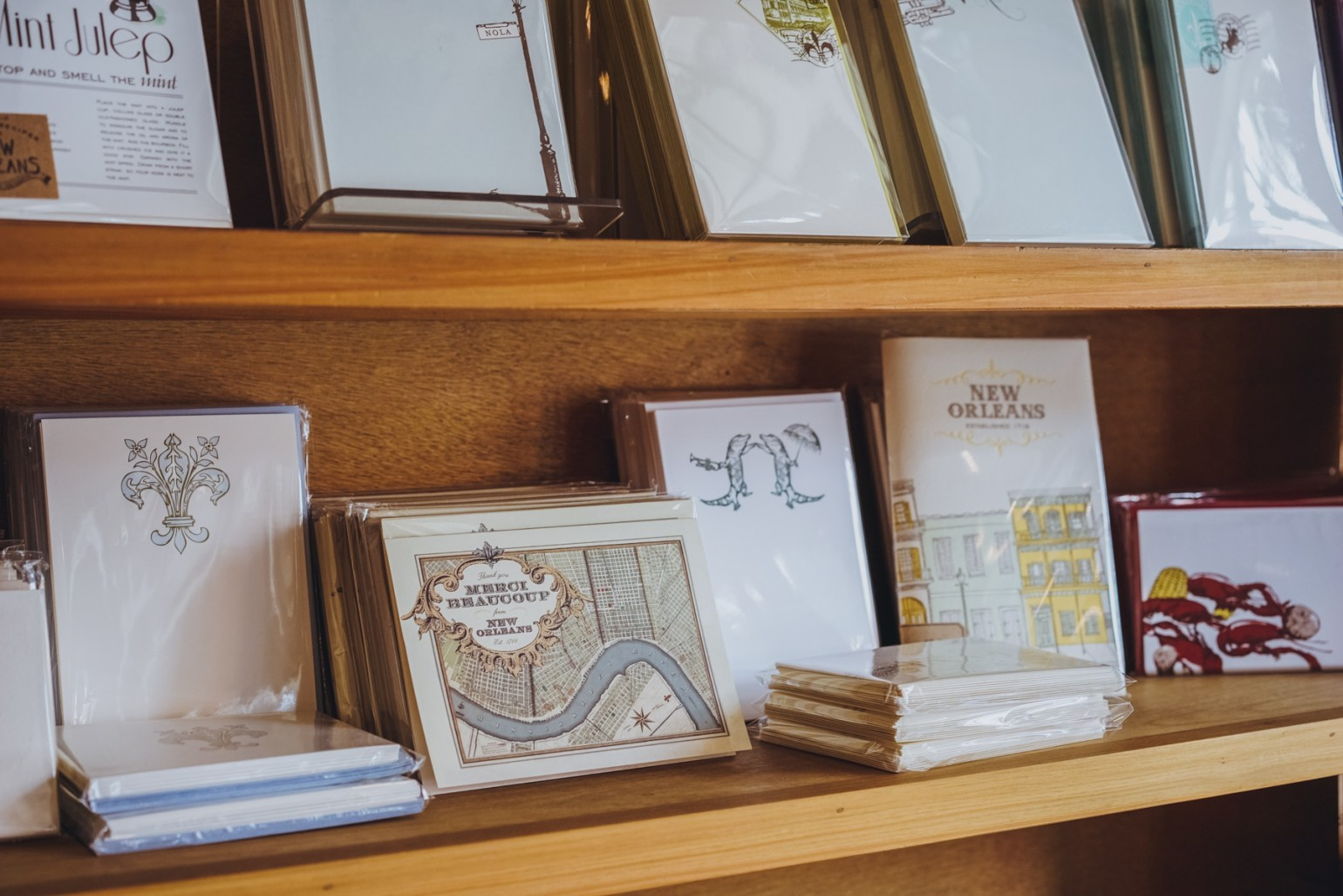 House-made cards and other paper items with a real New Orleans flair are part of the charm of Scriptura, the stationary store at 5423 Magazine St. They also offer custom wedding and event invitations, stationary and thank you cards.
