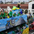 Floats line up for the Irish Channel Parade. (Photo: Paul Broussard)