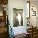 A ghostly image of Eudora Welty catches the eye at the Spielman Gallery. (Photo: Christopher Garland)