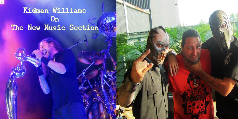 (Left, Korn's Jonathan Davis, Right Kidman Williams with Mushroomhead)