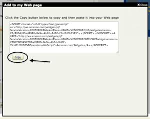 Amazon Widget Code