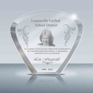 Sturdy Teacher Retirement Gift Crystal Moon Plaque C Goodcount