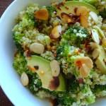 Quinoa with Broccoli Pesto