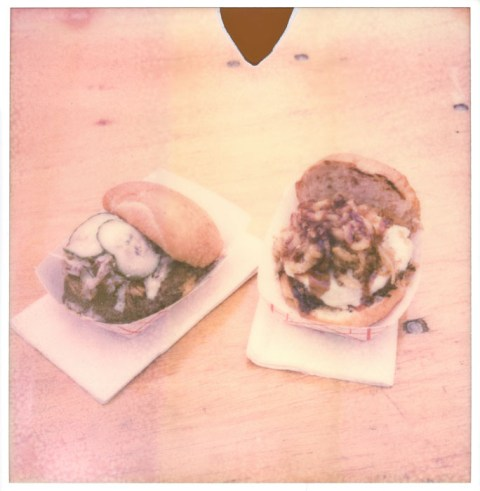 Yume Burger - TX Food Truck Fest - Impossible Project PX-70 Old Generation