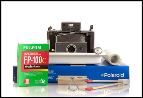 Fuji FP-100C - Polaroid Land Camera 100 - Polaroid Emulsion/Image Transfer Kit