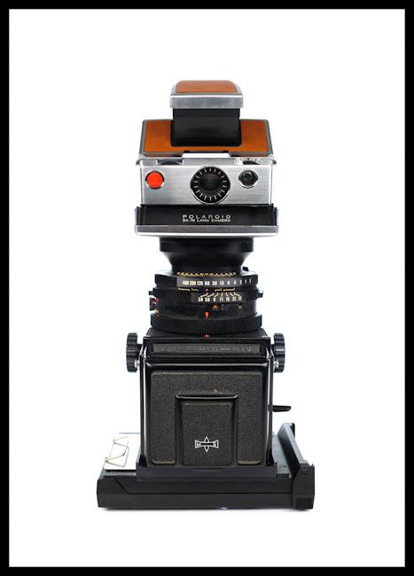 Mamiya RB67 + Polaroid SX-70