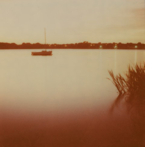 White Rock Lake - Impossible Project PX-680 V4B - Polaroid SX-70 - Exposure Down