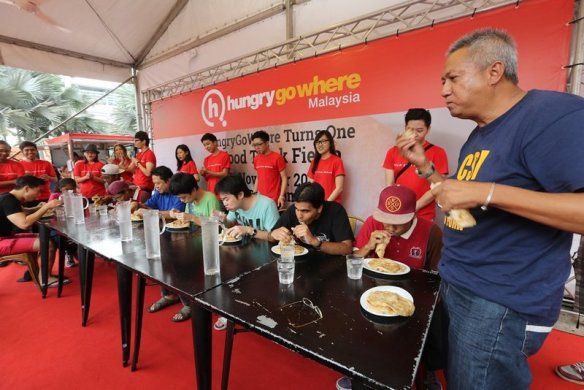 The Roti Canai eating contest during the Fiesta saw the participation of a wide variety of Malaysians from all walks of life.