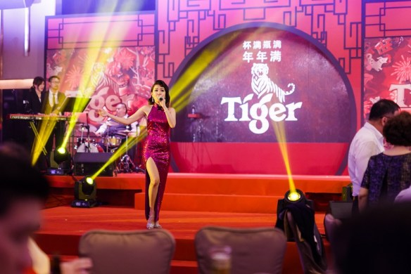 May Mow's performance during Tiger CNY 2018 Media Launch