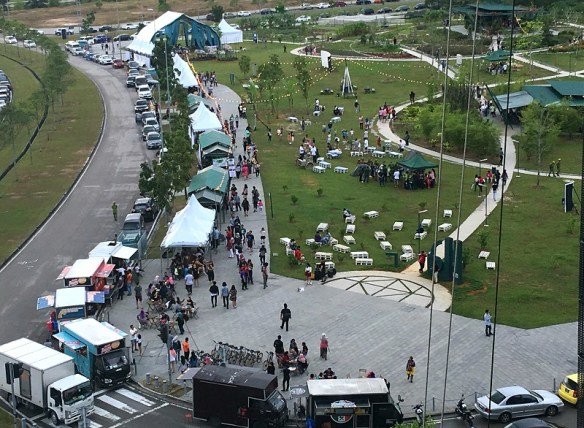 Aerial view of the festival ground