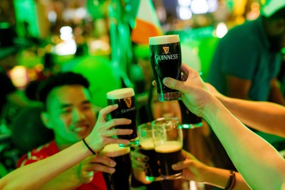 GUINNESS is available for a special price thoughout all St Patrick's events