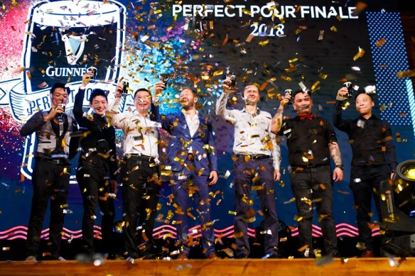 The reveal of the four winners during the Guinness Perfect Pour Finale at The Square, Publika