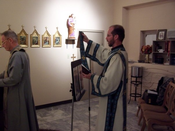 I loved my time as a deacon.  Here I am assisting V. Rev. Alexander Webster serve in Afghanistan (Nativity, 2006).