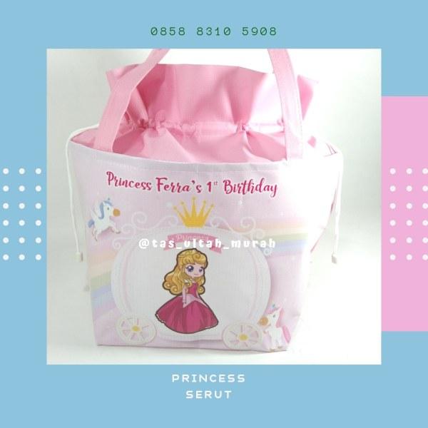 Tas Ulang Tahun Unik Serut Princess Pink jakarta