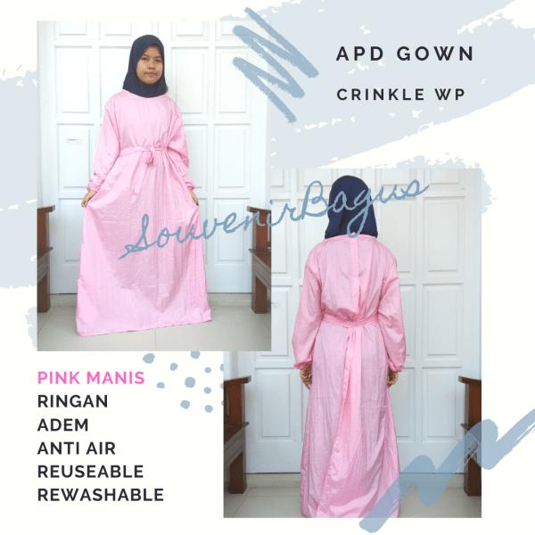APD Medis Gown Anti Air Murah Pink