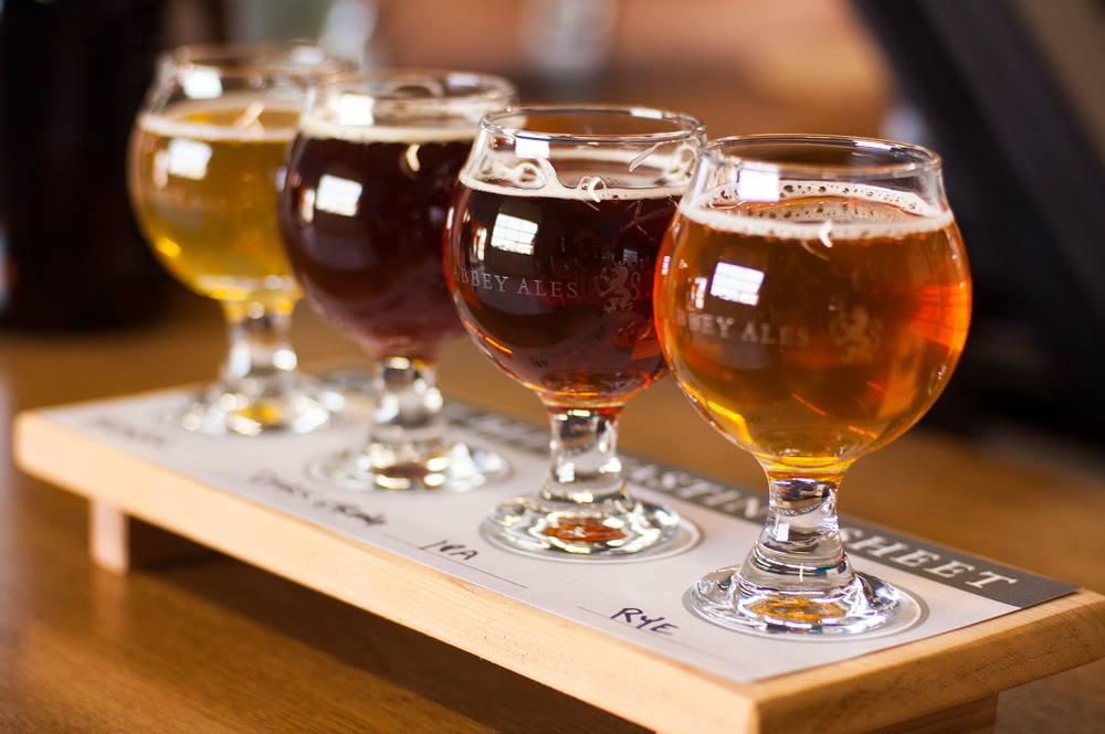 flight of beer old abbey ales