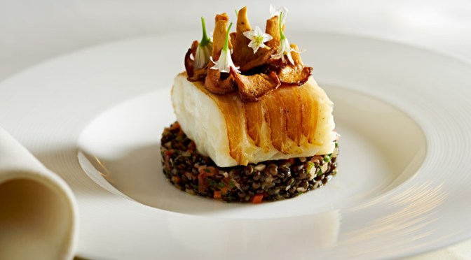 Halibut at the Wedgewood Hotel's Bacchus Room