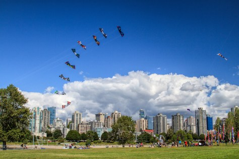 kite festival, vanier park, vancouver