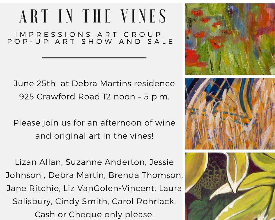 pop up art show june 25