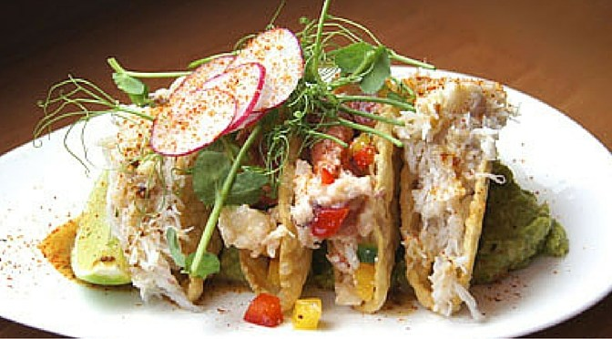 Chef Ned Bell's Dungeness Crab Tacos With Avocado