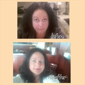 hair beffore and after