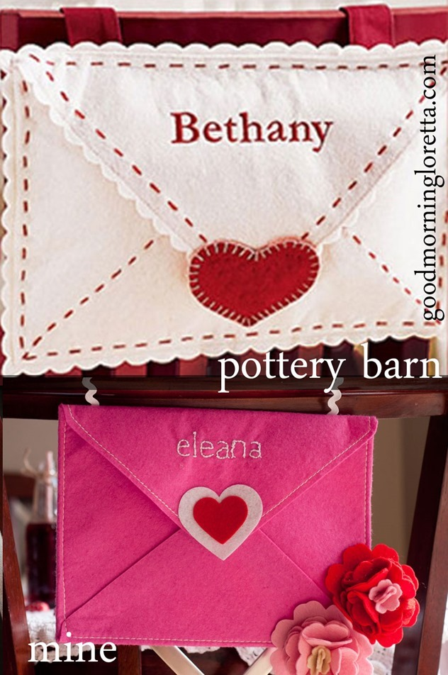 target felt envlopes valentine pbk pottery barn kids knock off valentines diy 2015 kid pink red grey white dollar one spot shop $1