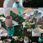 Easter Table Set-Up and DIY Mini Easter Baskets