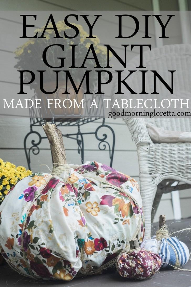 Easy DIY Fabric Pumpkin