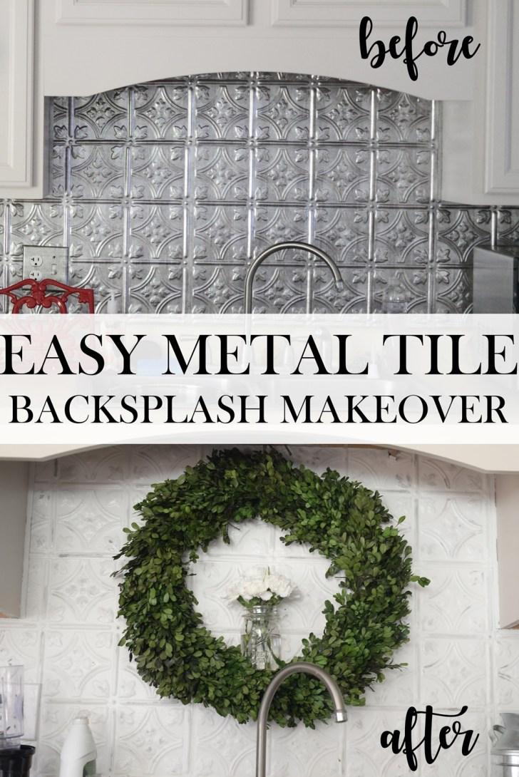 Metal Tile DIY makeover instal