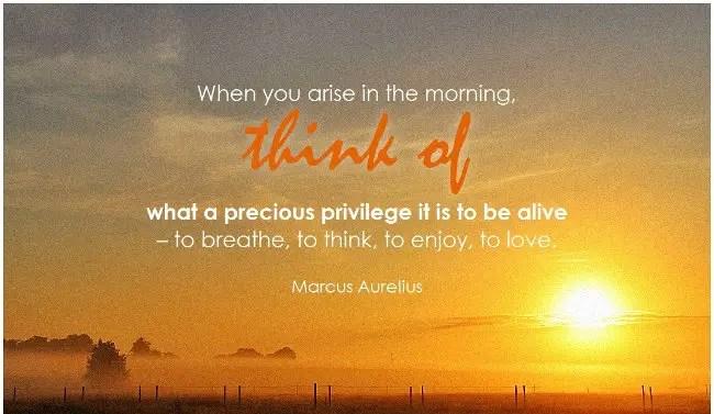 Inspirational Good Morning Messages_Marcus Aurelius_When you Arise
