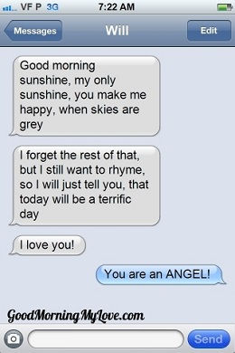 Cute Good Morning sms messages_Funny Good Morning sms Messages 4