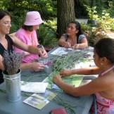 Melissa leading a lavender activity