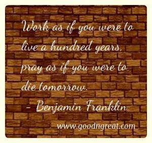 Prayer GoodNGreat Quotes Benjamin Franklin