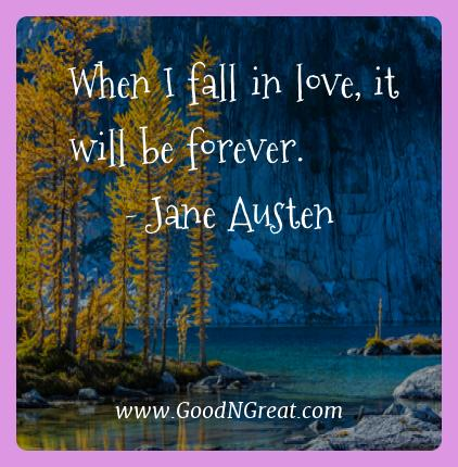 Jane Austen Best Quotes  - When I fall in love, it will be