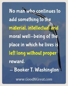 Booker T. Washington Karma Quotes 1