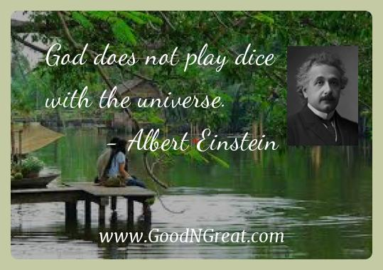 Albert Einstein Inspirational Quotes  - God does not play dice with the