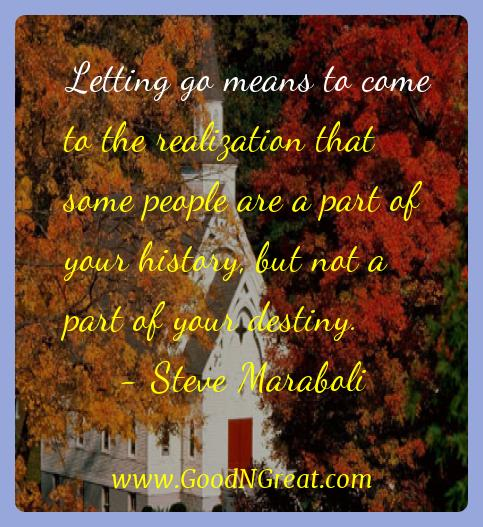 Steve Maraboli Inspirational Quotes  - Letting go means to come to the realization that some