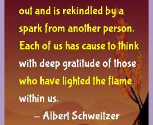 Albert Schweitzer Gratitude Quotes