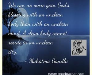 Mahatma Gandhi Cleaniliness Quotes