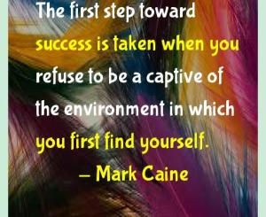 Mark Caine Success Quotes